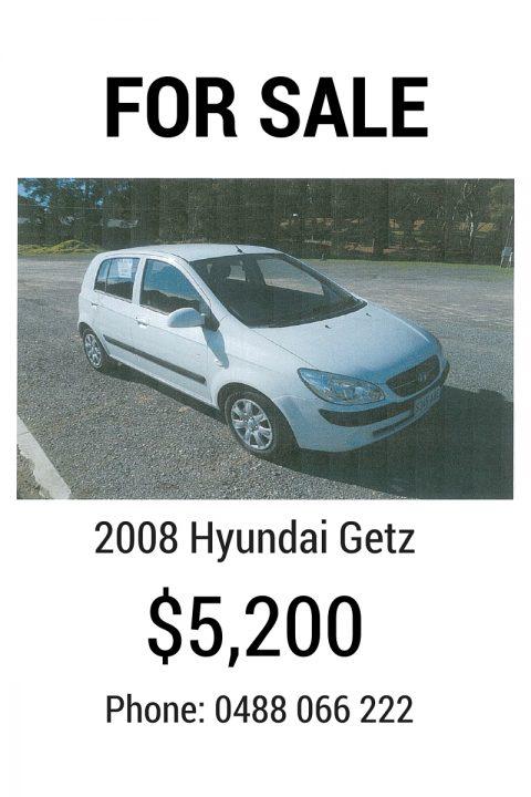 OR SALE - 2008 Hyundai Getz